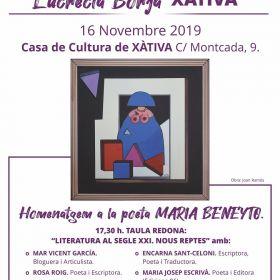 16 novembre 2019 - II ENCONTRE D'ESCRIPTORES LUCRECIA BORJA.