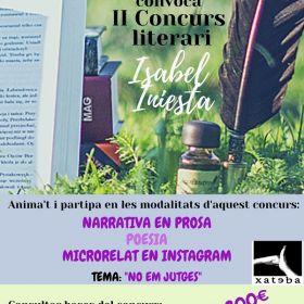 """II Concurs literari: """"Isabel Iniesta"""""""