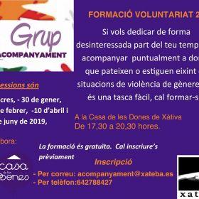 Val Grup d'Acompanyament: Curs Voluntariat 2019 30 gener,  27 febrer,  10 abril 5 juny